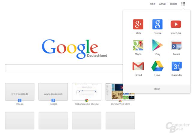 Google Chrome zeigt bereits die neue Ansicht