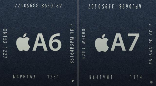 Apple A6 (ARMv7 32 Bit) / A7 (ARMv8 64 Bit)