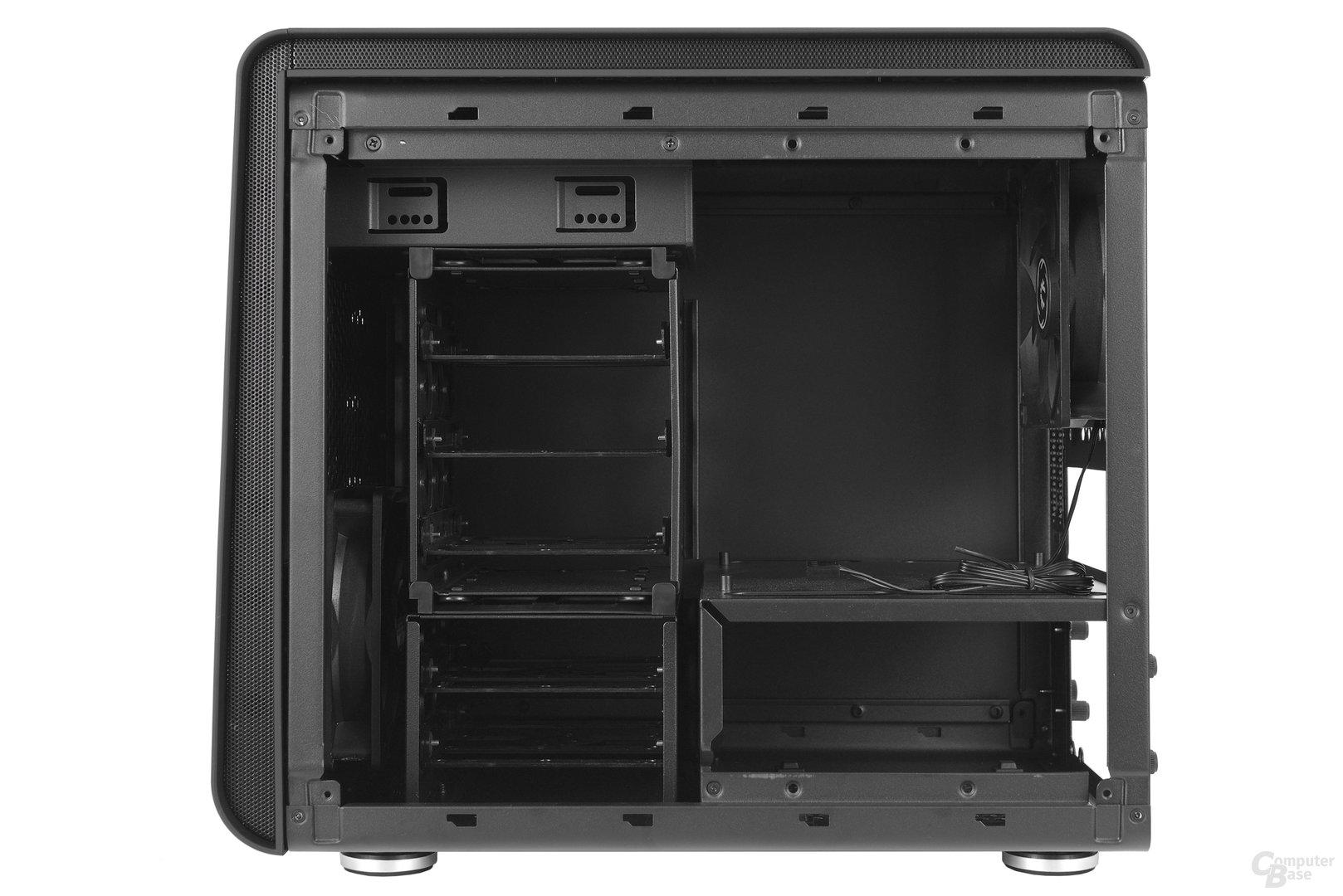 BitFenix Phenom Mini-ITX – Rückseite Innenraum