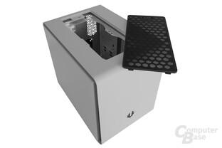 BitFenix Phenom mATX – Topstaubfilter entfernt