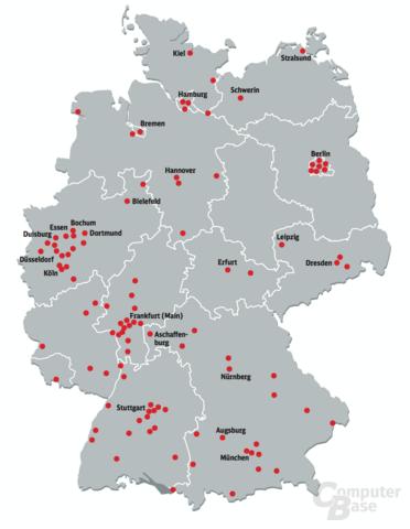 Kostenlose WLAN-Hotspots an Bahnhöfen der Deutschen Bahn