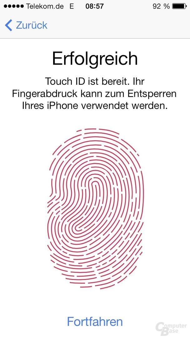 iOS 7 - Fingerabdruck einlesen