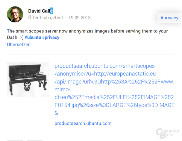 Anonymisierung von Vorschaubildern
