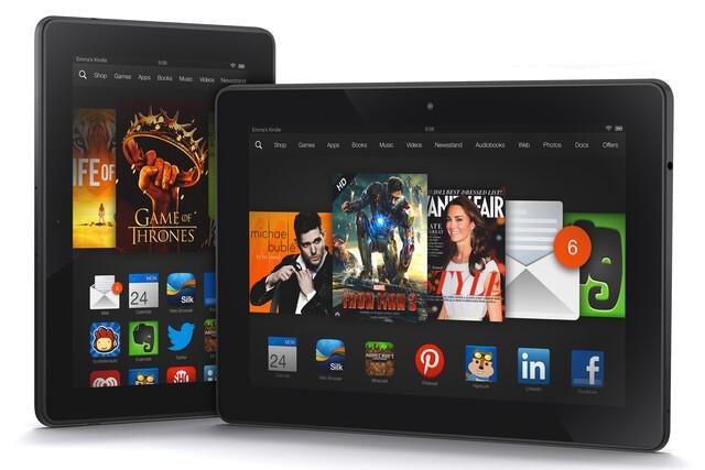 Amazon Kindle Fire HDX mit 7- und 8,9-Zoll