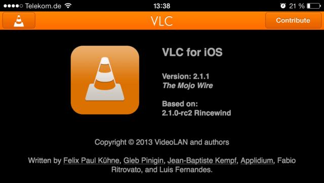 VLC 2.1.1 auf iOS