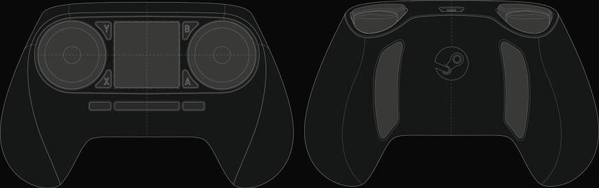 Steam Controller (schematische Darstellung)