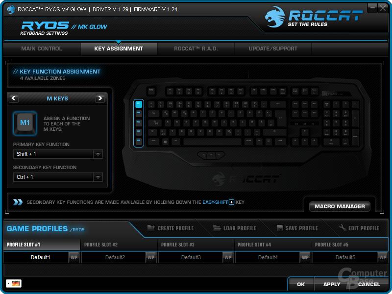 Konfiguration der Tastatur