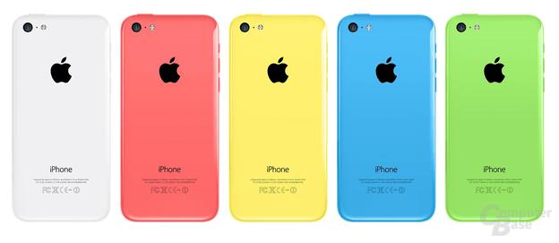 Die fünf Farben des iPhone 5C