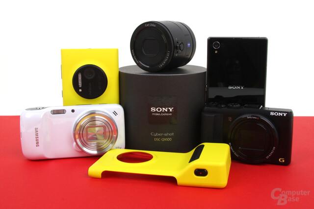 Smartphones & Digitalkameras im Foto-Vergleich