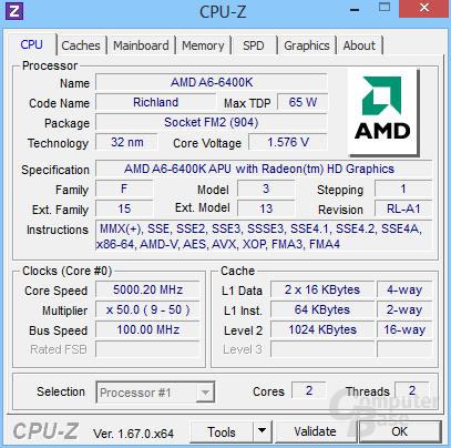 A6-6400K bei 5 GHz