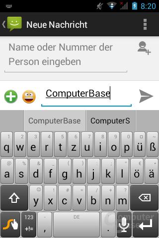 SMS & Tastatur