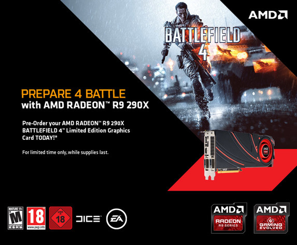 Die Radeon R9 290X im Bundle mit Battlefield 4 vorbestellen