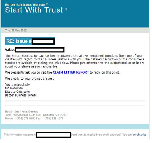 Malware-Brief mit infektiösem Link