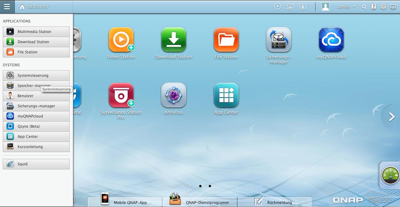 QNAP QTS 4.0.2 Software