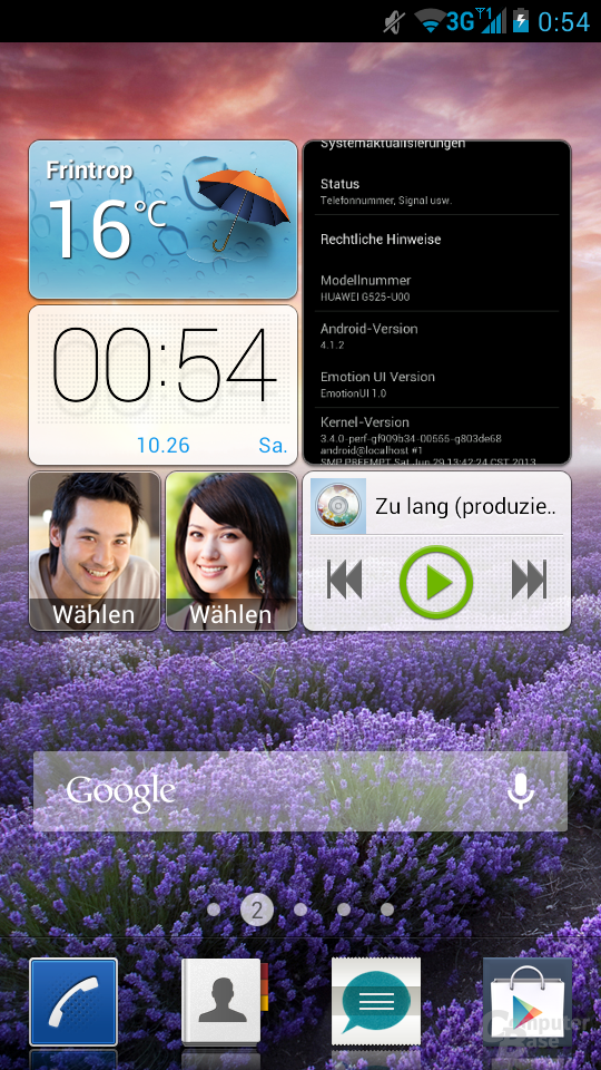 Screenshot auf Ascend G525