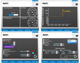 Monitor- und Setupmöglichkeiten der Kraken-Software