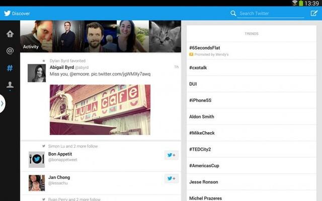 Twitter für Tablets