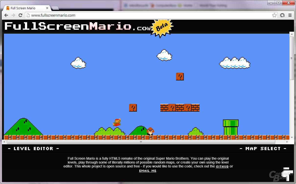 Super Mario als HTML5-Remake im Browser