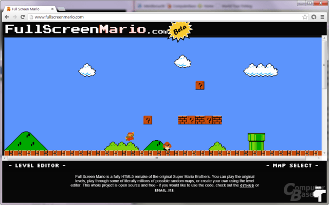 Super Mario als HTML5-Remake im Browser