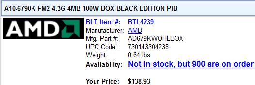 US-Händler listet AMD A10-6790K