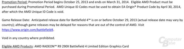 Auszug aus dem AMD-Dokument