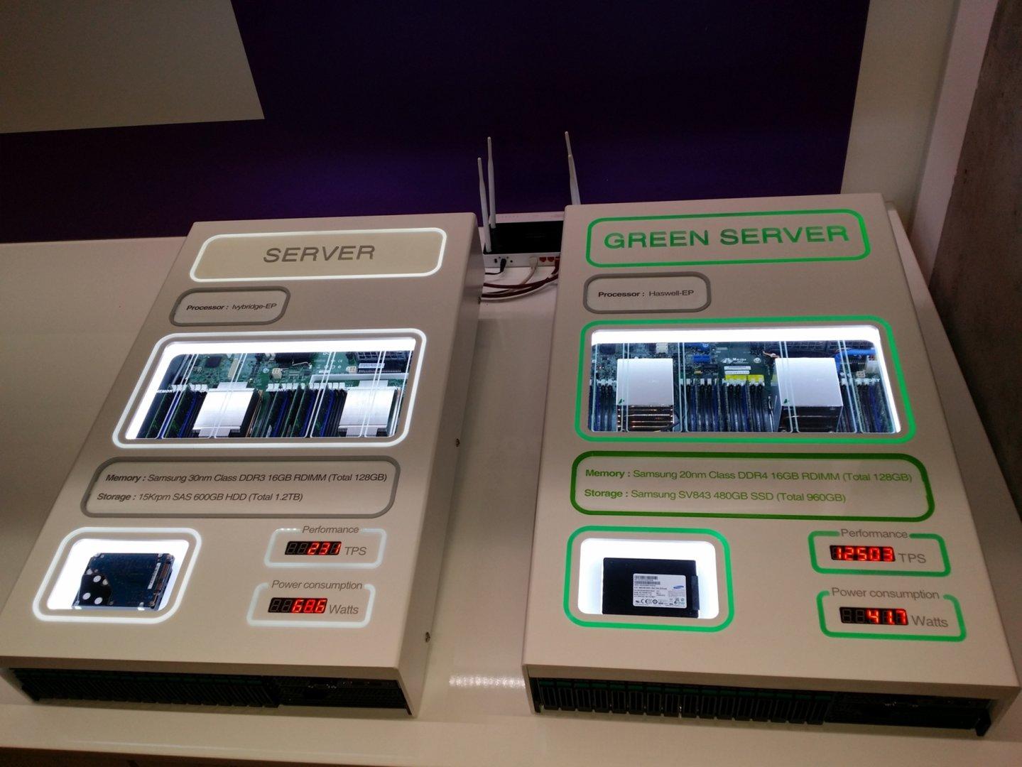Server-System mit DDR4 und Haswell-EP (rechts)