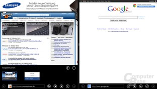 Internet Explorer 11 – Snap View für Tabs