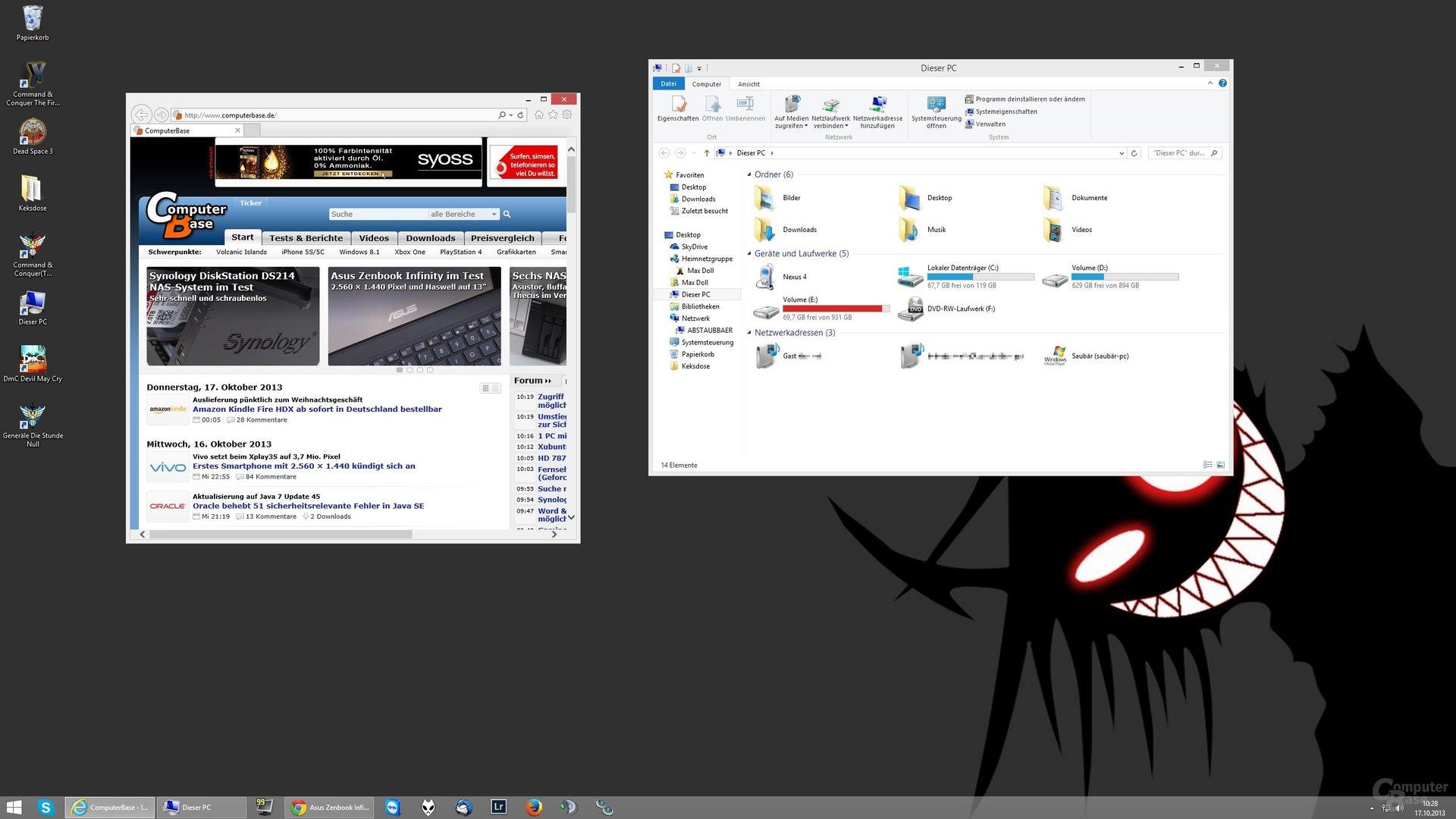 Desktop-Skalierung auf 100% (2560 x 1440)