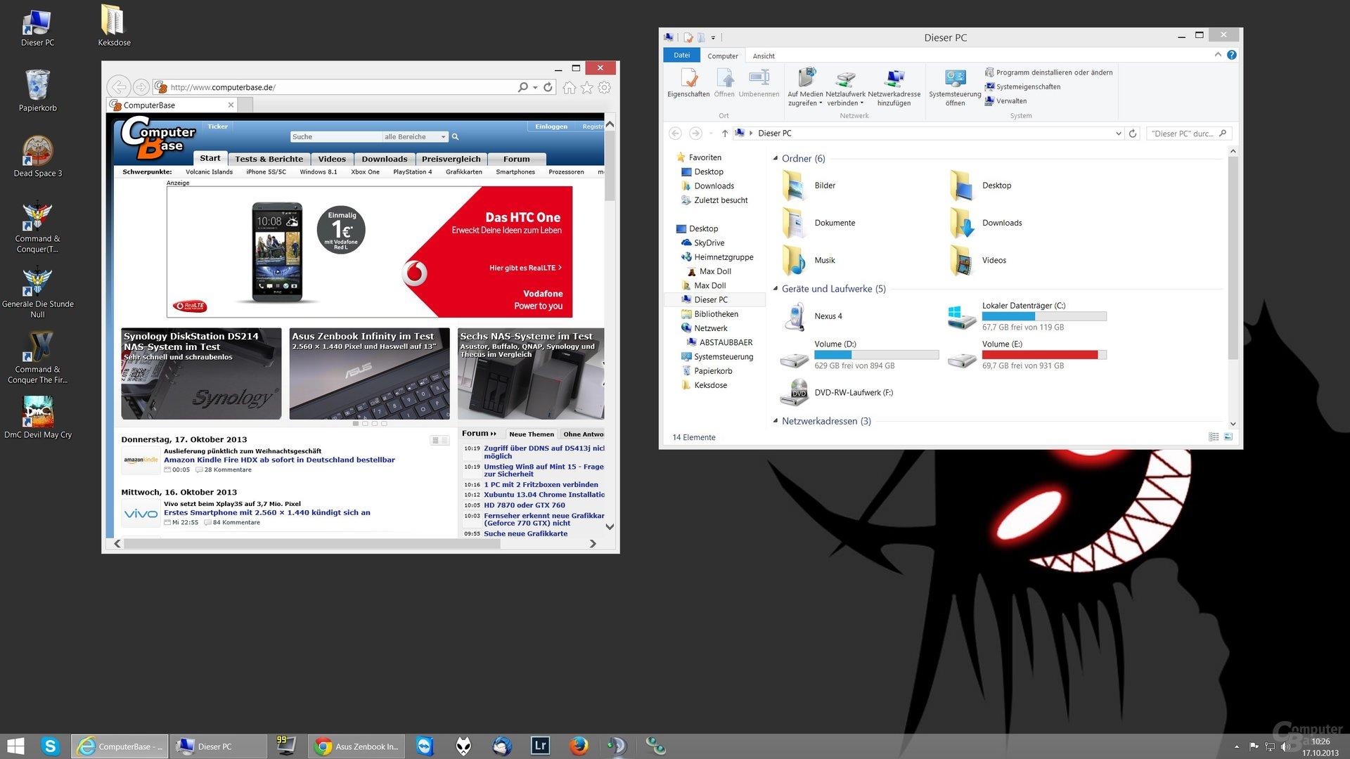 Desktop-Skalierung auf 125% (2560 x 1440)