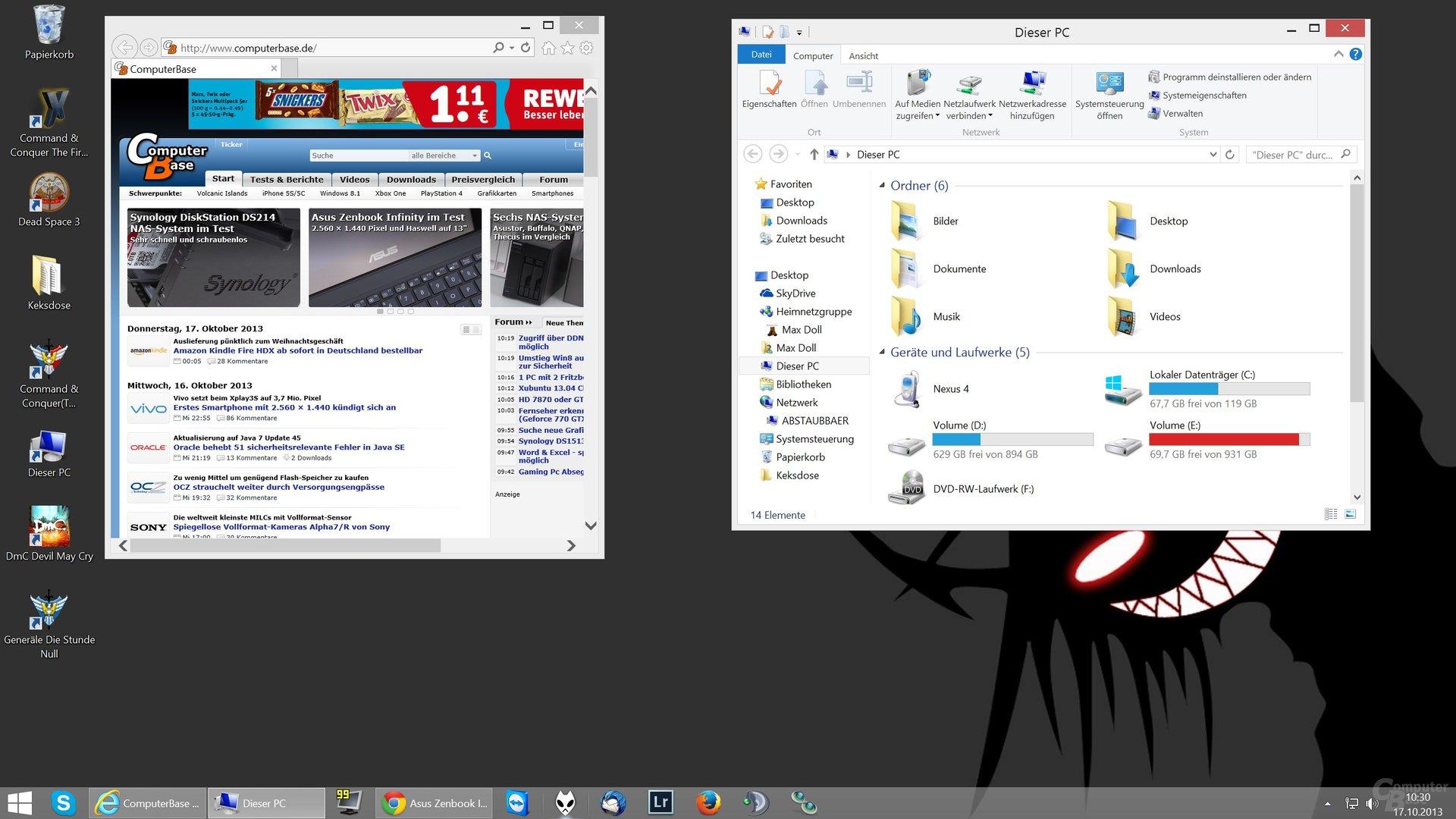 Desktop-Skalierung auf 150% (2560 x 1440)