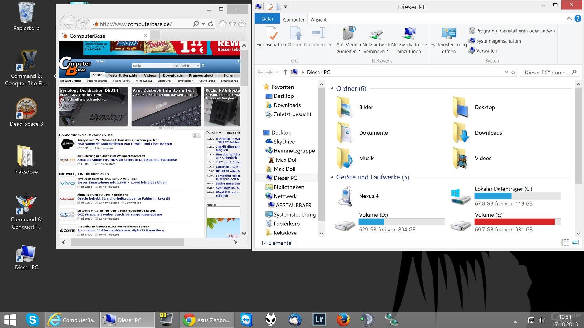 Desktop-Skalierung auf 200% (2560 x 1440)