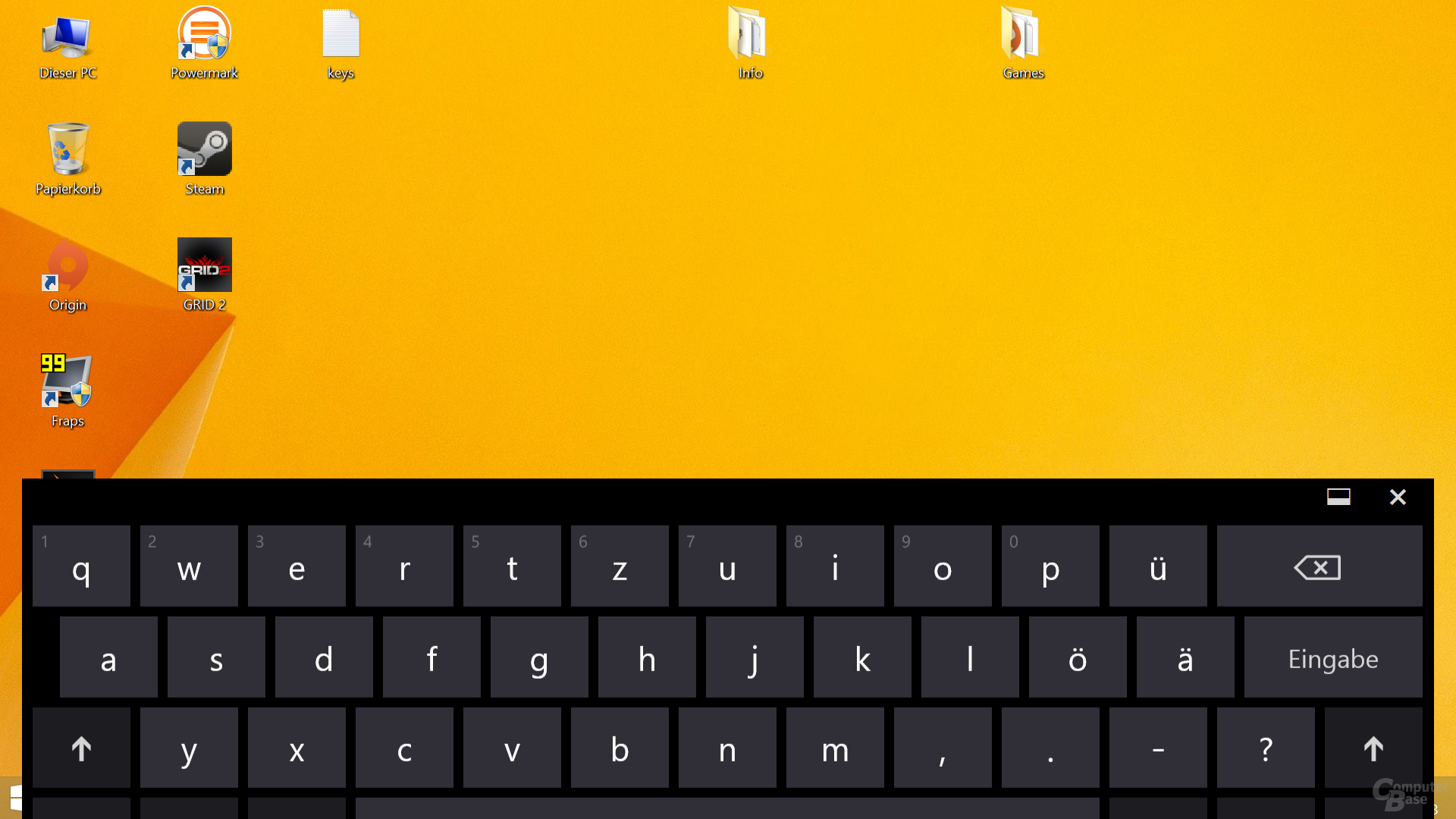 On-Screen-Tastatur auf Surface Pro 2