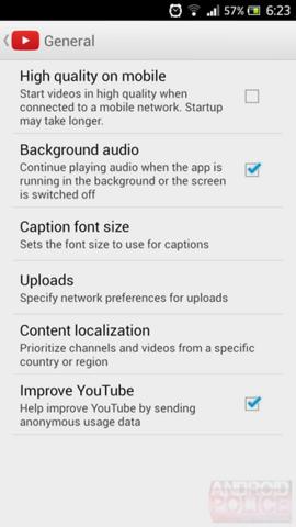 YouTube 5.2.27 mit neuer Funktion