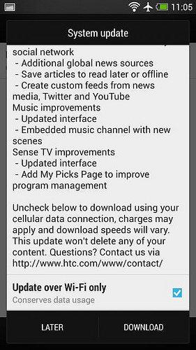 Android 4.3 für das HTC One