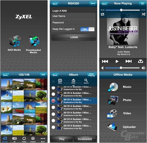 ZyXEL NSA325 v2 – neue Smartphone-App