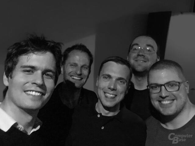 Die feste Redaktion aus Berlin bei einem Team-Event