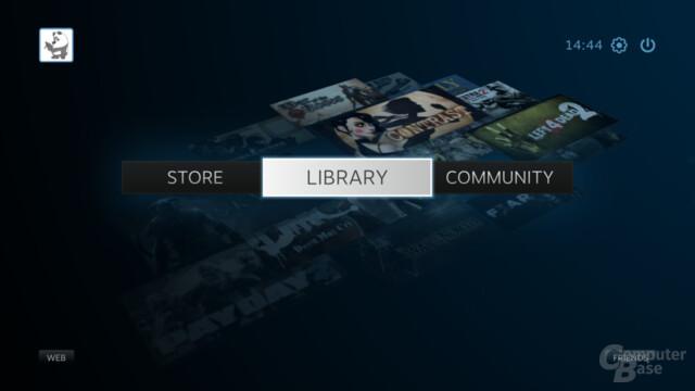 Basis des Steam OS: Der Big-Picture-Modus