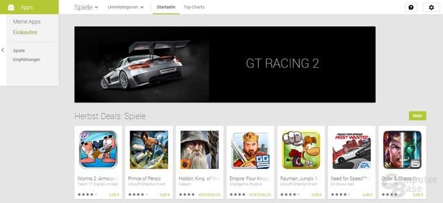 Spiele im Play Store