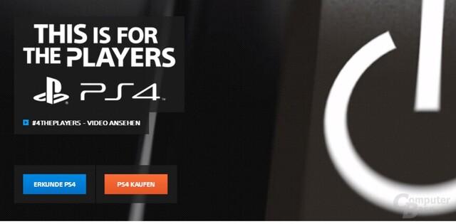 Trotz Werbung nicht nur für Spieler: Die PlayStation 4