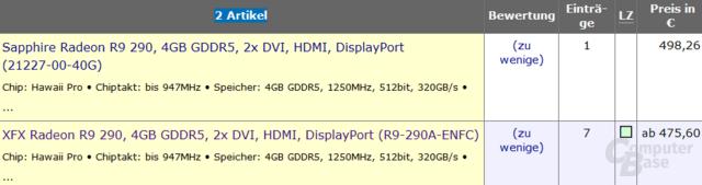 AMD Radeon R9 290 bereits lieferbar