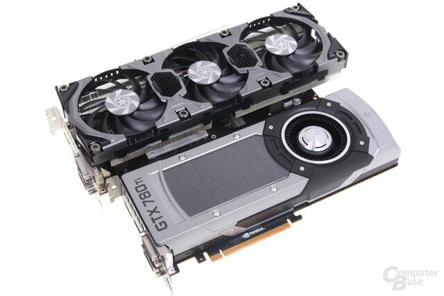 Im Vergleich ein Winzling: Die GeForce GTX 780 Ti