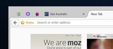 Australis Tab- und Adressleiste