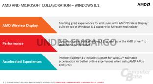 AMD und Microsofts Windows 8.1