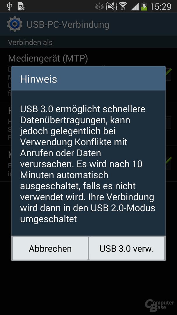 USB-3.0-Modus