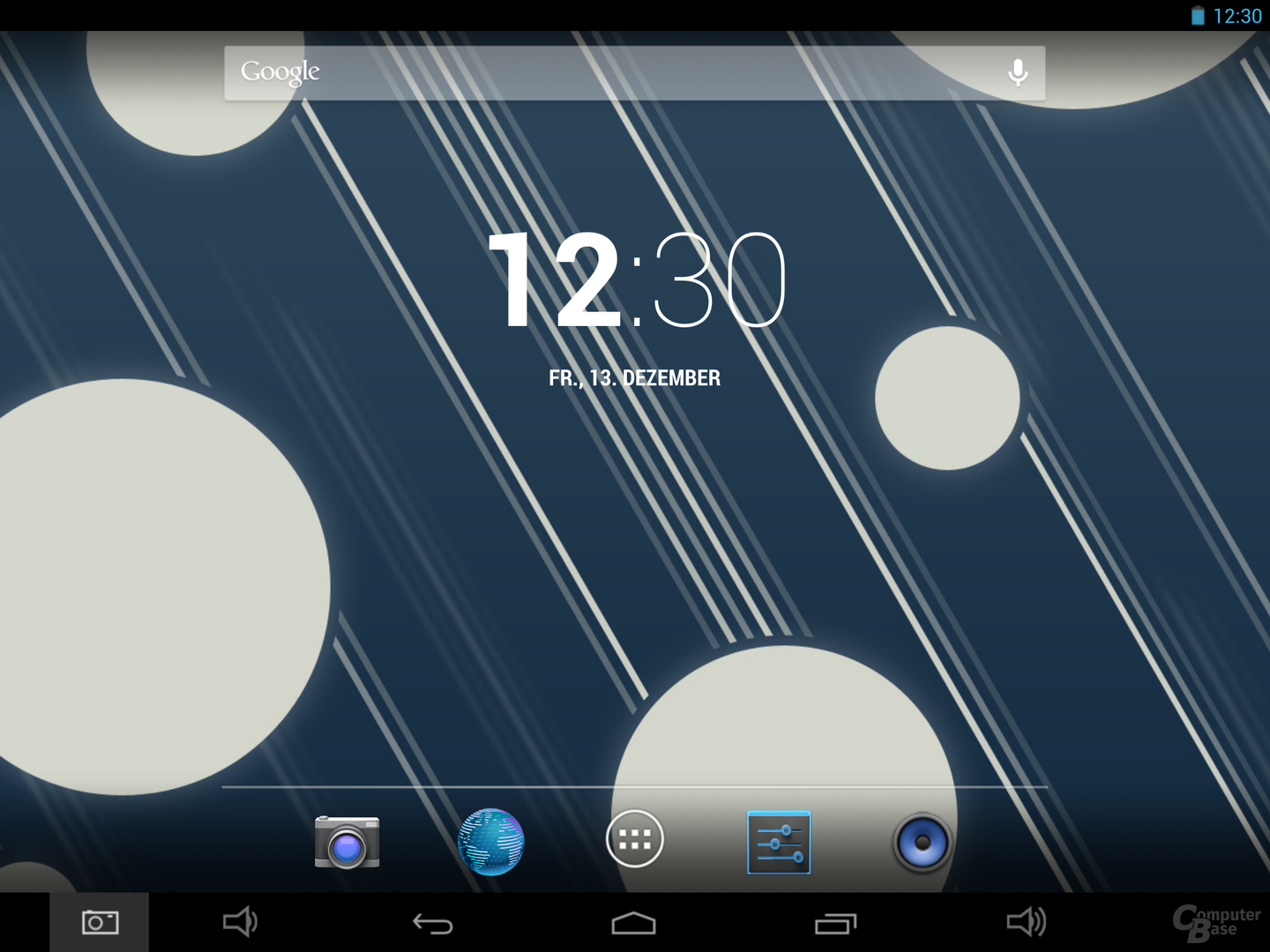 Captiva 9.7 Super Full HD Homescreen