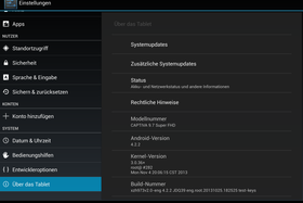 Captiva 9.7 Super Full HD Einstellungen