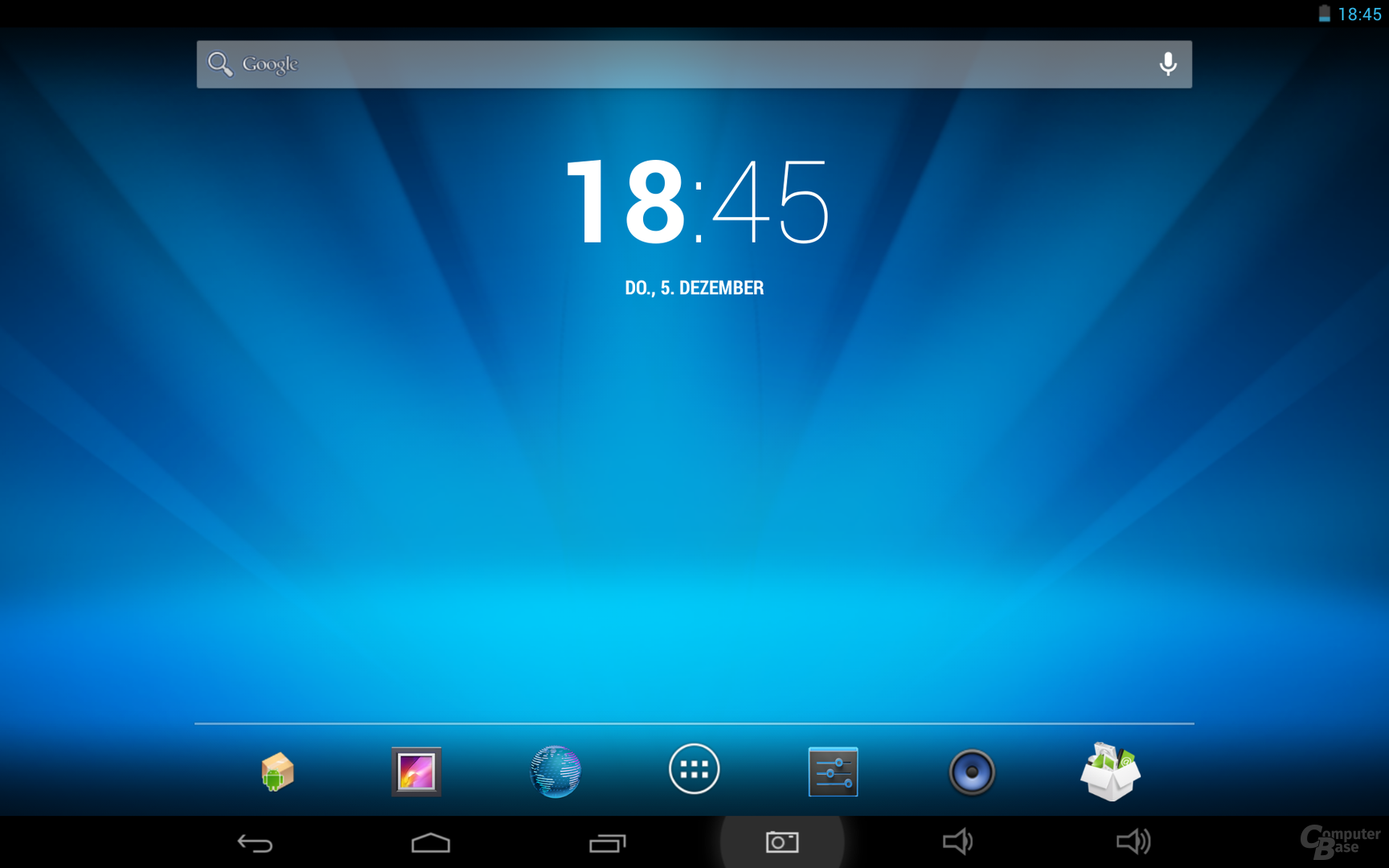 Captiva 10.1 Quad Full HD Homescreen