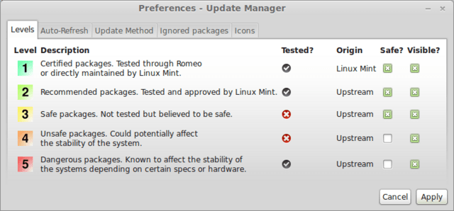 Mint Update Manager