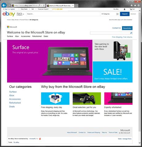 Microsoft Store auf eBay.com