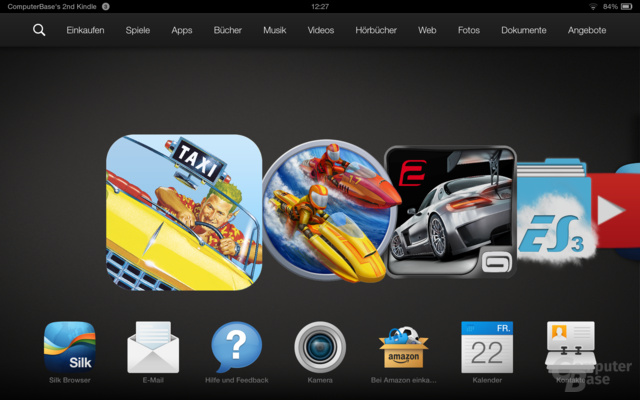 Kindle Fire OS 3.0 Homescreen